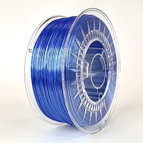 Devil Design SILK Blue, 1.75mm, 1kg of high gloss filament made in Europe
