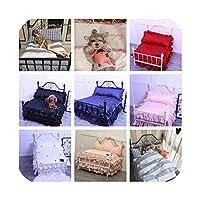 甘いかわいい人形のベッドペットの犬小屋取り外し可能な犬の鉄のベッドプリンセスベッドの写真-to See Details-Within 45kg