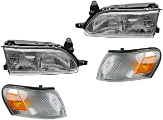 For Toyota Corolla 93 94 95 96 97 Head And Corner Light W Bulb 4 Combination
