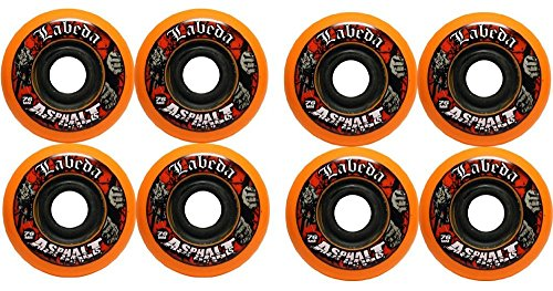 Labeda Asphalt Orange Inline Skate Wheels - 76mm