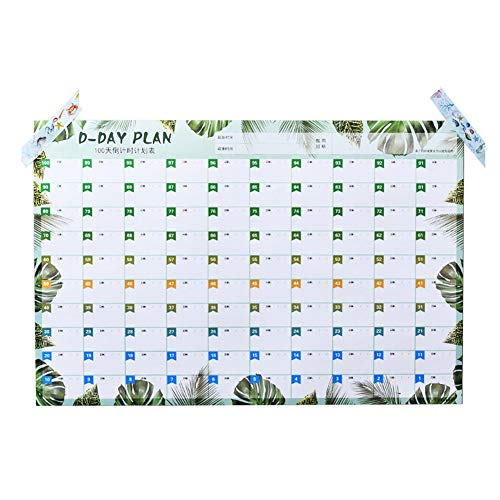 Mini Office Depot 2019 New 100 Tag Countdown Kalender Lernen Zeitplan Periodic Planer Tisch(Grün)