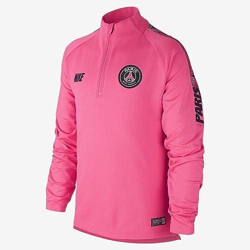 Nike PSG Y NK Dry Sqd Dril Top T- T-Shirt à Manches Longues Enfant