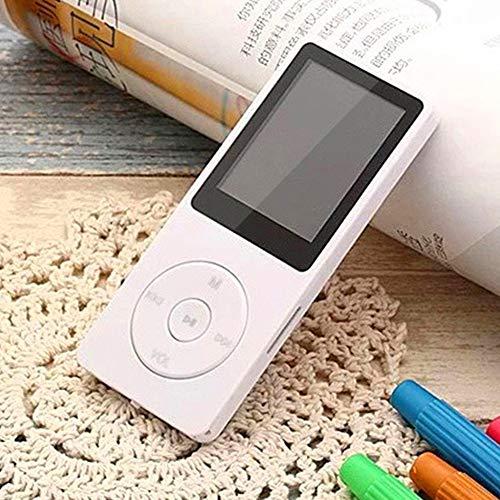 Blusea — Leitor de MP3/MP4, leitor de música de 64 GB, tela de 1,8 polegadas, leitor de música MP3 portátil com rádio FM e gravador de voz para crianças e adultos