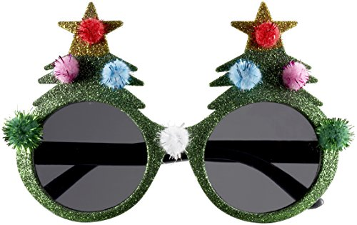 Forum Novelties Novelty Holiday Glasses, Christmas Tree, One Size