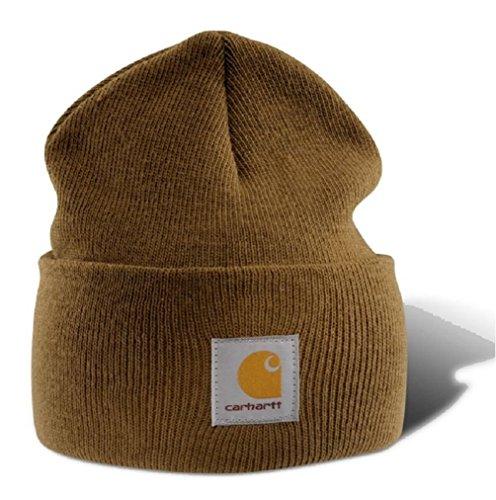 Carhartt Wintermütze für Sie und Ihn, OFA, 100% Polyacryl,elastisch, Hellbraun, Einheitsgröße