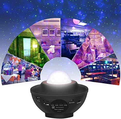 Proyector de estrellas, luces nocturnas, proyector de luz de galaxia, proyector LED de ondas oceánicas, cielo estrellado, nube de nebulosa, 10 modos de iluminación para salas de juegos/cine en casa