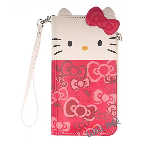 Hello Kitty - Funda para iPhone 6S y iPhone 6, diseño de Hello Kitty, compatible con iPhone 6S iPhone 6 Apple iPhone 6S Apple iPhone 6 (fabricado en Piel sintética)