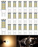 ALOPEE 20pcs Soft Warm White T10 921 194 2825 501 W5W LED Replacement Bulbs for 12V Car RV Trailer Interior Light Reverse Lights Bulbs, 42pcs 3014 Chipsets 3000K.