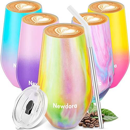 Newdora Thermobecher 500ML Edelstahl Kaffeebecher to go Auslaufsicher mit BPA Frei Deckeln für heißen und kalten Kaffee, Tee