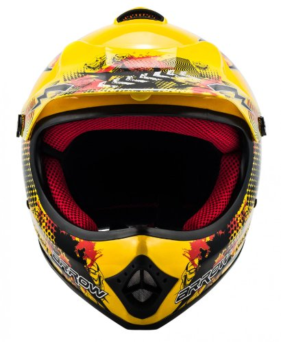 "ARMOR · AKC-49 ""Yellow"" (Gelb) · Kinder-Cross Helm · Enduro Kinder Off-Road Sport Motorrad Moto-Cross · DOT certified · Click-n-Secure™ Clip · Tragetasche · S (53-54cm) - 5"