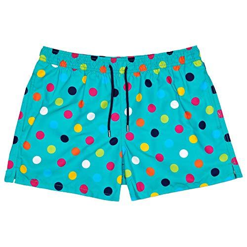 Happy Socks Big Dot Swim Shorts 42 inch Multi