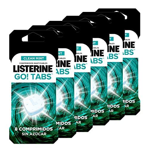 Listerine, Go! Tabs, Comprimidos Masticables Sin Azúcar, Boca Limpia y