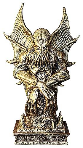 Crafts Escultura Cthulhu estatua recuerdo escultura decoración del hogar decoración de escritorio oro arte estatuilla coleccionable regalo estantería decoración decoración