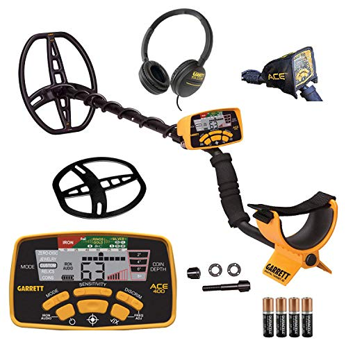 Garrett Ace 400 Metal Detector with Waterproof Coil and Headphone Plus...