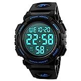 Reloj deportivo digital para hombre, para uso al aire libre o al hacer ejercicio, resistente al agua a 5ATM y de...