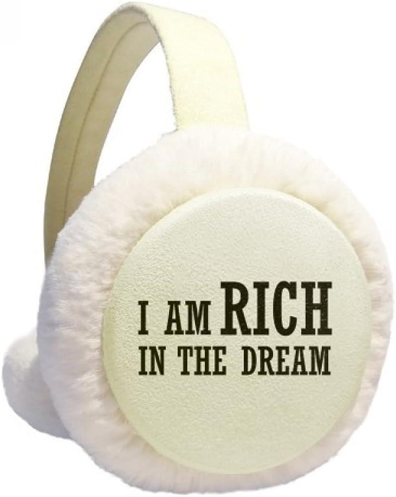 I Am Rich In The Dream Winter Ear Warmer Cable Knit Furry Fleece Earmuff Outdoor