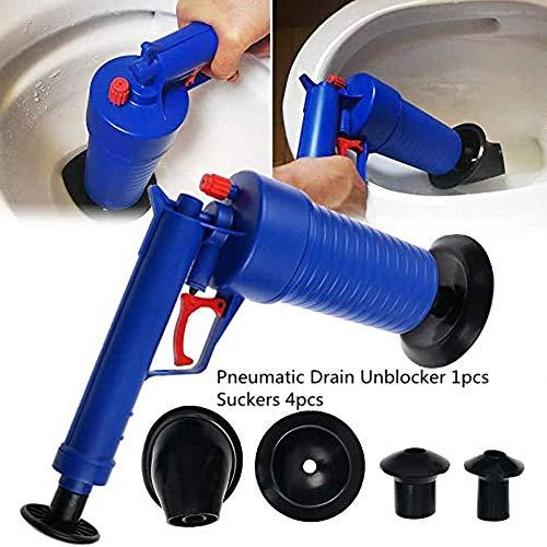 XZJB - Desatascador neumático de drenaje de aire, limpiador de bomba de presión, desatascador de desagüe de inodoro, desatascador de tuberías de baño
