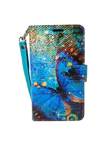 LG Aristo2 Case, Customerfirst [Wallet Stand] [Slim Fit] Heavy Duty Protective Shock Resistant Flip Cover Wallet Case for LG Aristo 2 / LG Aristo/LG Tribute Dynsaty/LG K8 2017 (Compass Butterfly)