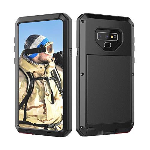 Beeasy Samsung Galaxy Note 9 Hülle,Outdoor Handyhülle 360 Grad Handy Hülle Schutzhülle Robust Tough Armor Doppelte Schutzschicht Fallschutz Hybrid Rüstung Schlagfest Stoßfest Kratzfest Bumper,Schwarz