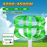 TQ Wind Generator 4500W/4000W 12/24/48V 5 Blades Generator Lantern Wind turbines...