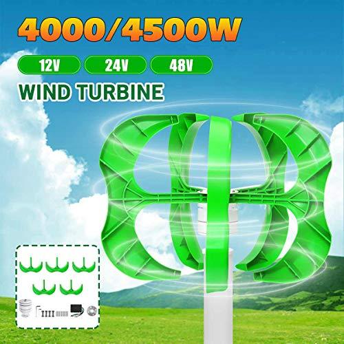 TQ Wind-Generator 4500W / 4000W 24.12 / 48V 5 Blades Generator Laterne Windturbinen vertikale Achse Haushalt Straßenbeleuchtung + Steuerung,48v,4000W