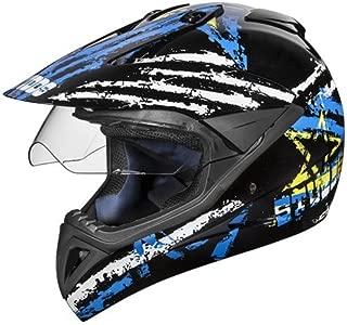 Studds Motocross D5 Helmet With Visor (Black N1, M)