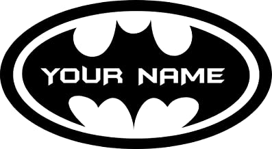 Chic Walls Removable Personalized Batman Logo Custom Name Text Wall Art Decor Decal Vinyl Sticker Mural Superhero Kids Room Nursery 40