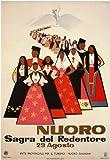 Vintage Travel Italien für Nuoro sagre de Redentore C1954 von Mario Puppo, 250 gsm, Hochglanz, A3, vervielfältigtes Poster