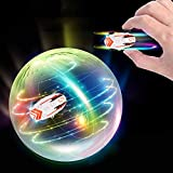 Micro Racers Mini Cars,Micro Pocket Racer LED Ligh,360 Degree Rotation High Speed Micro Mini Racers Cars Toy with Transparent Ball Sling USB Cable for Kids Adults Birthday Festival Gift