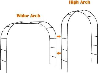 """Mr. Ton Garden Arch, Wedding Arch, Garden Arbor Pergola for Indoor/Outdoor Lawn Garden Various Climbing Plants, 7'8"""" High x 4'5"""" Wide"""