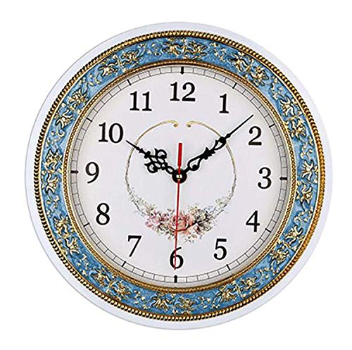 HCYY Reloj De Pared Simple para Sala De Estar, Reloj De Pared De Cuarzo Creativo De 28 Cm, Reloj Retro Europeo Adecuado para Salas De Estudio, Lugares Públicos, Oficinas, Dormitorios, Cocinas
