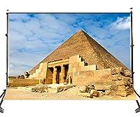 LYLY COUNTY 10×7フィート ポリエステル 写真スタジオ背景 ギザのピラミッド 背景幕 クラブ背景用 写真107-336