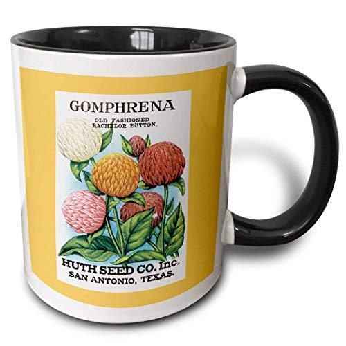 Gomphrena altmodische Bachelor Button Huth Seed Company Tasse, Keramik Kaffee Tasse für Büro und Zuhause, Teetasse für Kaffee, Tee, einzigartige Festival Geburtstagsgeschenk für Männer Frauen 11oz