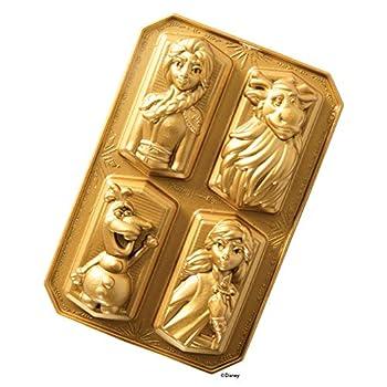Nordic Ware 94378 Disney Frozen 2 Cast Character Cakelet Pan 3/4-Cup Cavities Gold