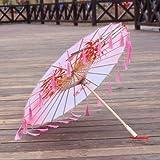 Breakthecocoon Sombrilla de seda, paraguas de papel de danza femenina, sombrilla, paraguas de borla (color: E)