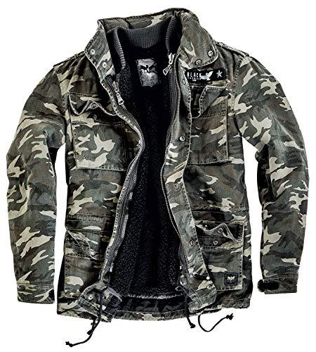 Black Premium by EMP Army Field Jacket Männer Winterjacke Camouflage M 100% Baumwolle Basics