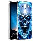 Pnakqil Coque Huawei Mate 10 Pro, Etui en Silicone Transparent avec Motif Fun Design Anti Choc TPU...