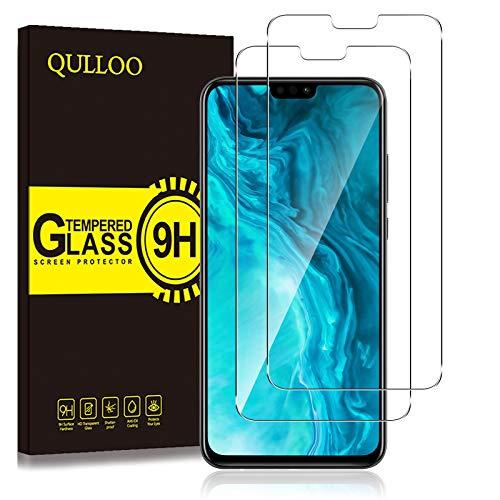 QULLOO Panzerglas für Huawei Honor 9X Lite, 9H Hartglas Schutzfolie HD Displayschutzfolie Anti-Kratzen Panzerglasfolie Handy Glas Folie für Huawei Honor 9X Lite