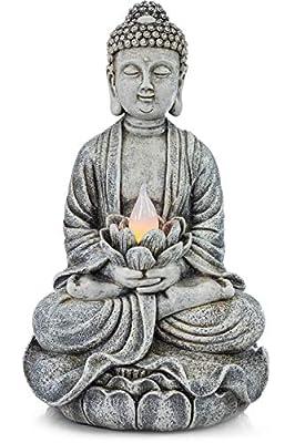 VP Home Zen Buddha Solar Powered LED Outdoor Decor Garden Light