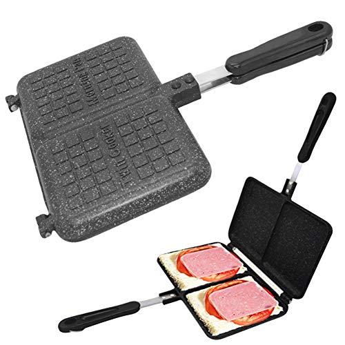 Lancei Omelettpfanne Doppelpfanne Wendepfanne Sandwichmaker Pfannkuchen Pfanne Crepespfanne Elektro Bratpfannentablett für Wohnküche