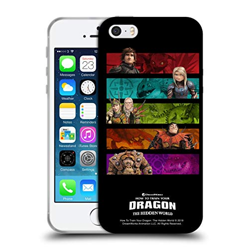 Head Case Designs Licenza Ufficiale How To Train Your Dragon Gang III Piloti Cover in Morbido Gel Compatibile con Apple iPhone 5 / iPhone 5s / iPhone SE 2016