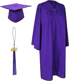 GradPlaza Unisex Graduation Matte Gown Cap Tassel 2020+2021 Two Year Charms