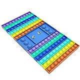 Big Pop Game, XXL Pop Push Bubble Pop Sensorisches Schachbrettspielzeug Schachbrett Pop für Eltern-Kind, Freunde, Party, Büro,2-Players Violett