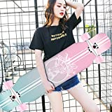 LINGLING-Skateboard Skateboard Professional Beginner Skateboard Longboard Adult Boys and Girls Dance Board Adult