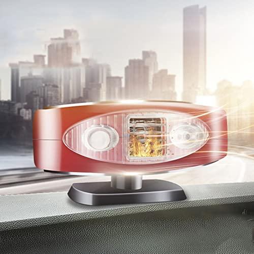 MZEHRAY Riscaldatore Auto 2 in 1 12V Portatile Sbrinatore Parabrezza,Ventola Elettrica con Riscaldamento Rapido Sbrinamento per Riscaldamento Automatica in Riscaldatore per Accendisigari