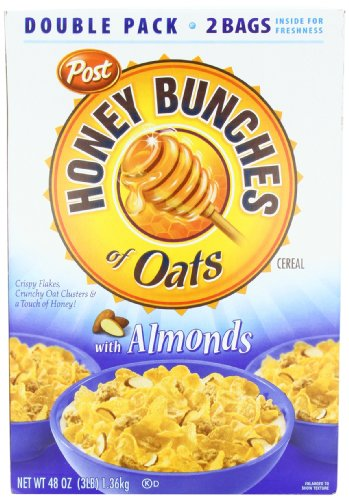 Post Honey Bunches of Oats with Almonds Cereal Box, 1.36 kg