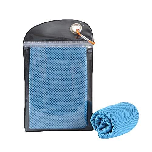 Bebliss Instant Cool Towel herbruikbare warmte-isolatie, cool handdoek met karabijnhaak voor yoga en fitness, 110 x 30 cm