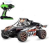 2.4Gワイヤレスドリフト RC.男の子と女の子の贈り物のための車の充電式のおもちゃのためのギフトスピードオフロードリモコンカーモードクライミング RC.車1/18 (Color : Orange)