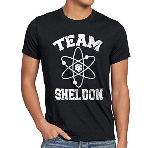 CottonCloud Sheldon College Team Herren T-Shirt, Größe:M, Farbe:Schwarz
