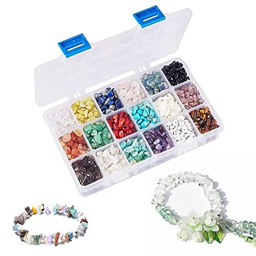 Perlas de piedras semipreciosas, 18 colores, preciosas naturales, perlas irregulares, sueltas, curativas naturales para manualidades, joyas, collares, pulseras, pendientes